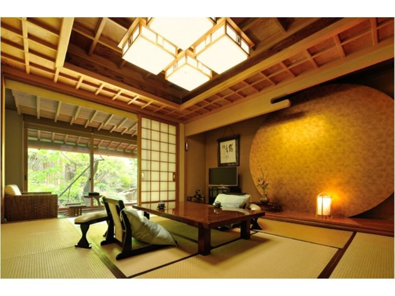Japanese-style Room with Open-air Bath (10 tatami, Katsura Type)