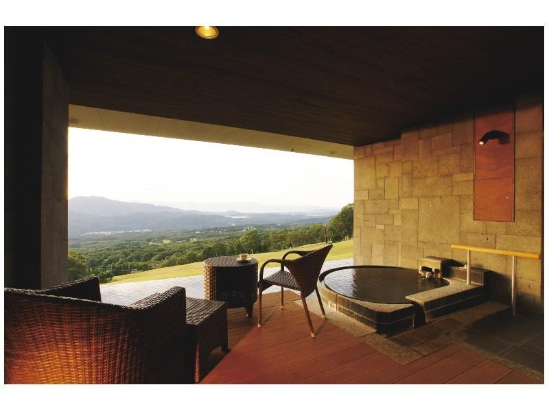 테라스룸B(스파&스위트동/노천온천탕/트윈룸) (Terrace Twin Room with Open-air Hot Spring (Type B, Spa & Suite Building))