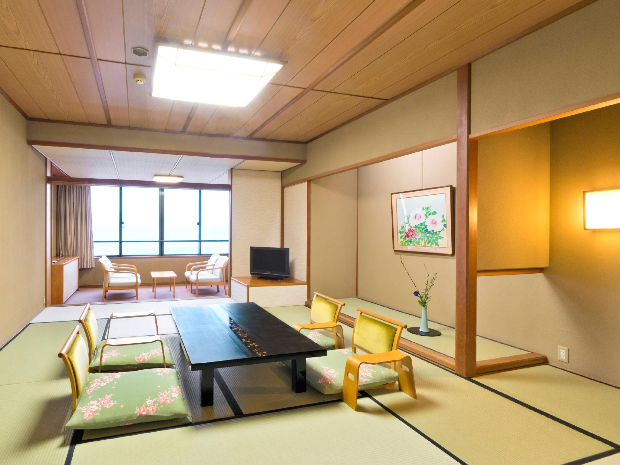 和室房・西之風・晚餐地點: 包廂茶寮 (Japanese-style Room (Nishi-no-Kaze Wing) *Private dining)