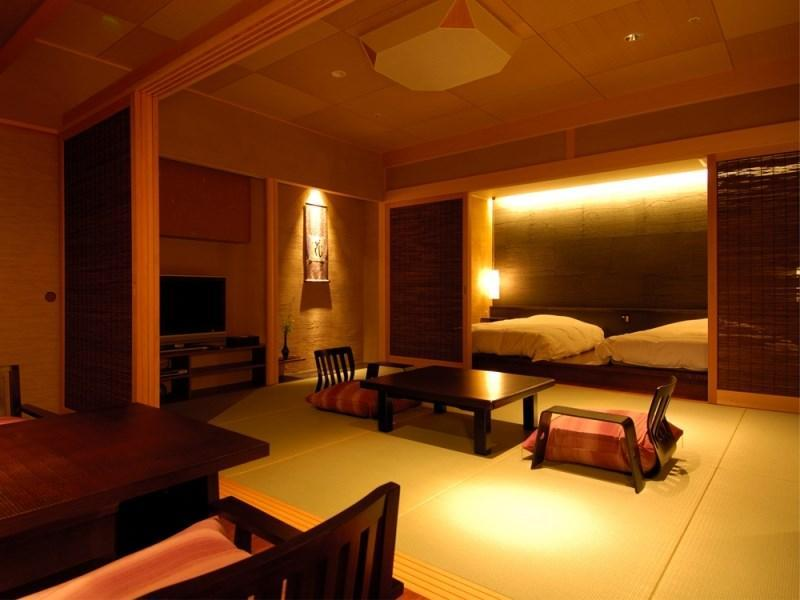 Executive Japanese/Western-style Room with Open-air Bath (Type A, Hoshi-no-To Wing)