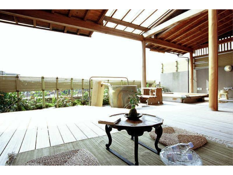 Japanese-style Room with Cypress & Pot Open-air Baths + Terrace