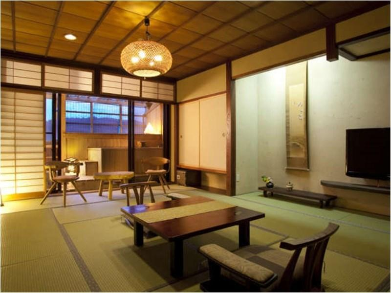 Standard Japanese Room with Private Open Air Onsen on the Balcony.