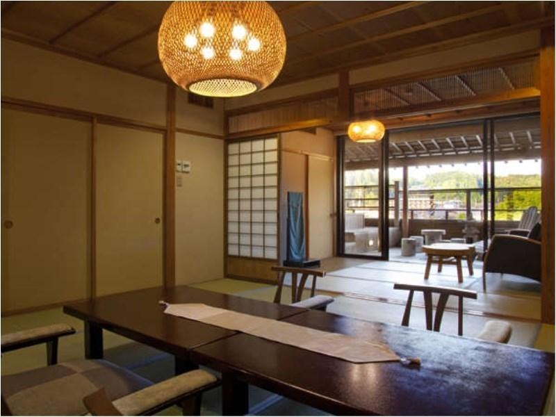 3-Room Japanese Style Suite with Private Open Air Onsen on the Balcony.