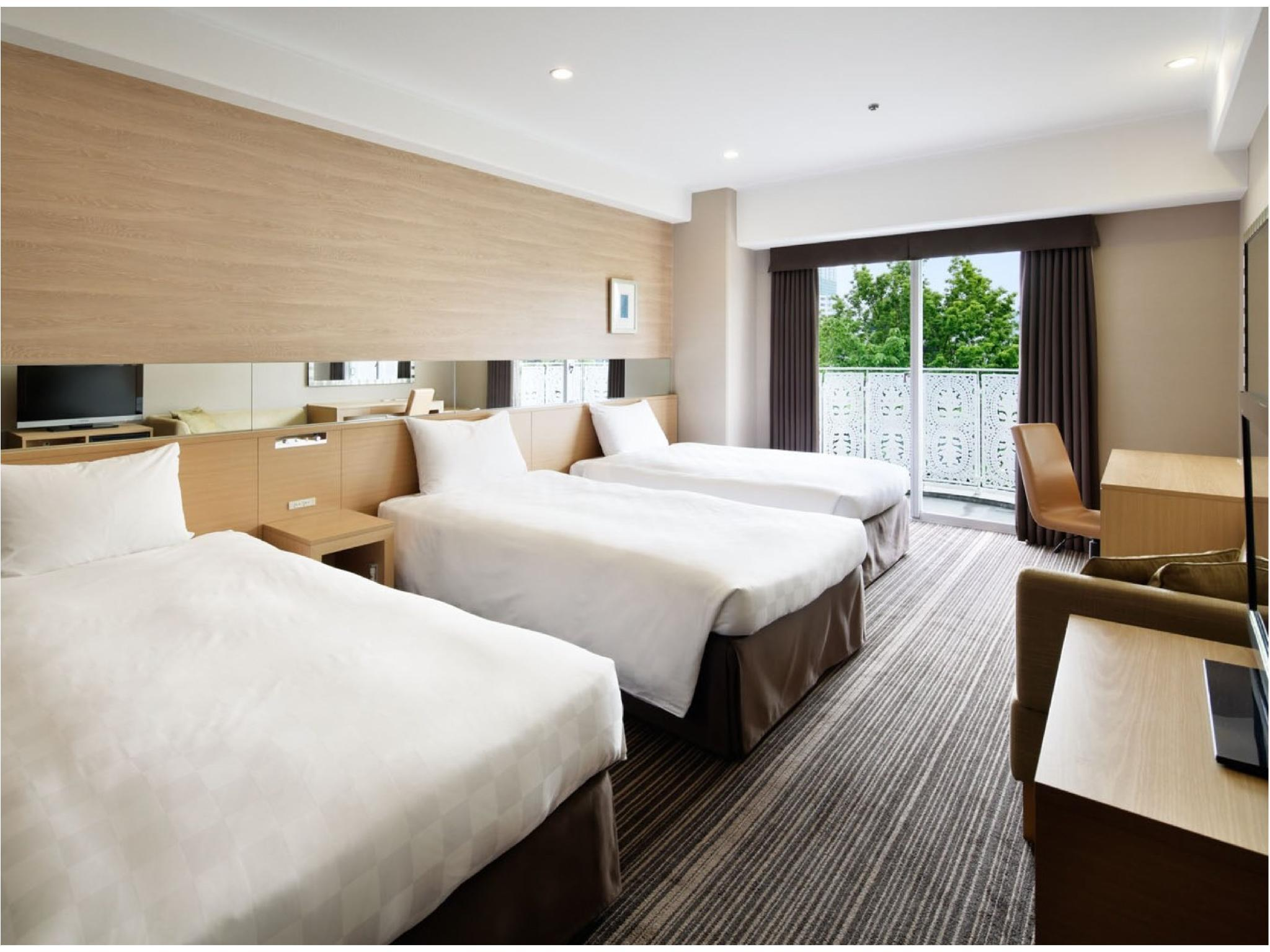 슈페리어 내추럴 트윈룸 (Superior Natural Triple Room (Twin Room + Extra Bed))
