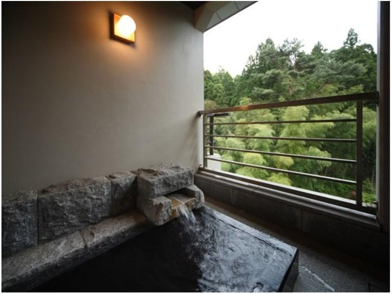다다미 객실(FUKUJU-KAN/특별실/노천탕) (Special Japanese-style Room with Open-air Bath (Fukuju Wing))