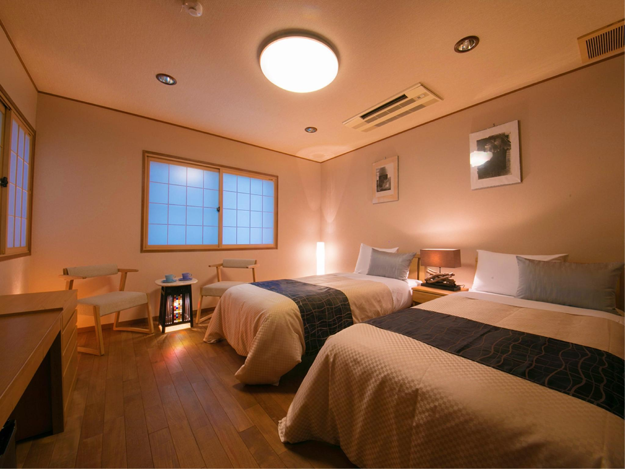■加茂■[禁煙]【29平米+檜風呂】 (Western-style Room with Cypress Bath (Kamo Type))