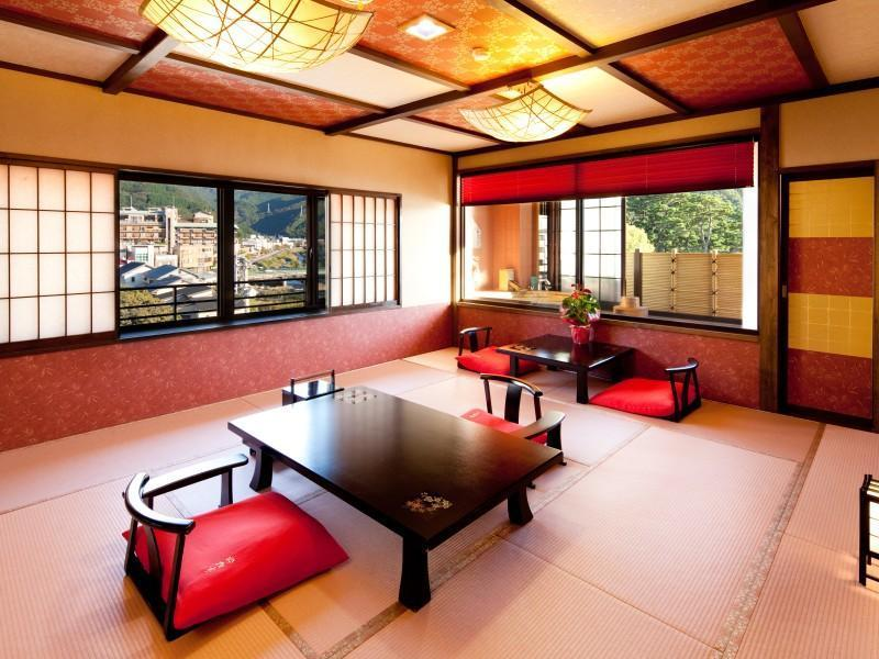 露天風呂付客室 和室15帖 (Japanese Style Room with Open-Air Bath)