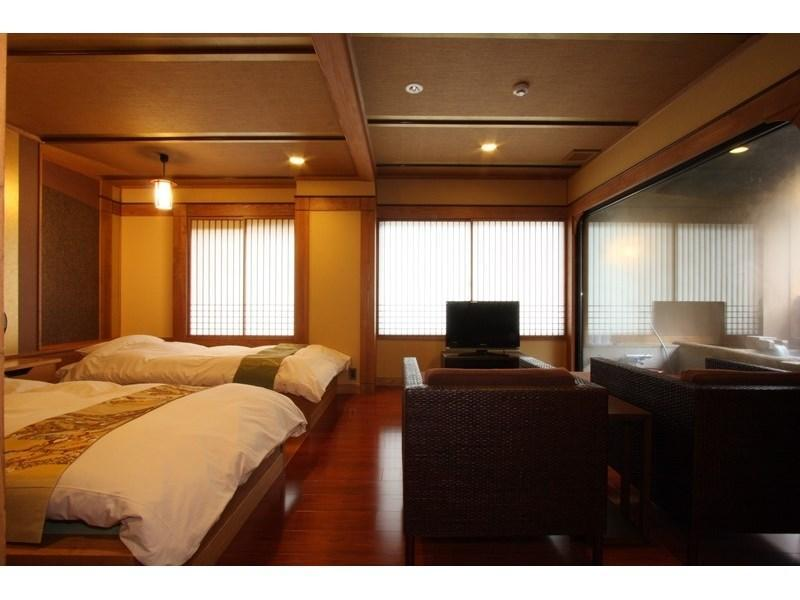 雅套房+露天風呂(2張床) (Suite with Open-air Bath (2 Beds, Miyabi Type))