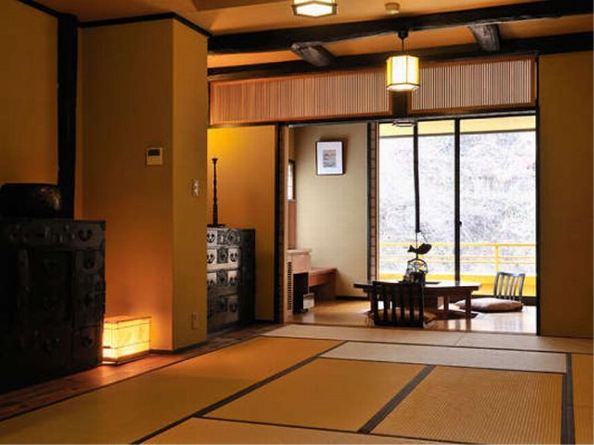 Special Japanese-style Room with Cypress Open-air Bath (Osasayado Type)
