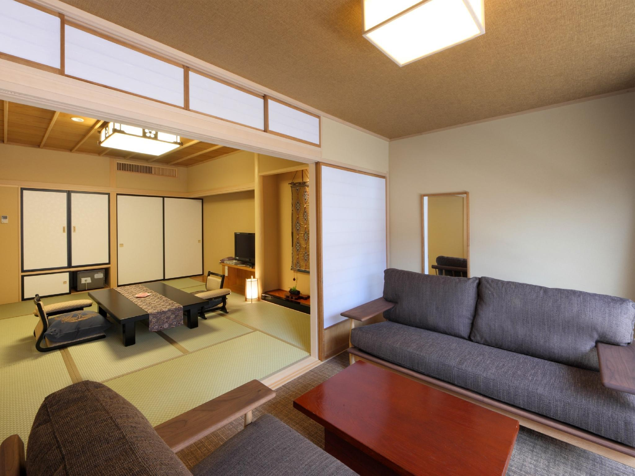 Japanese-style Room with Open-air Bath (2 Beds, Hachiban Wing)