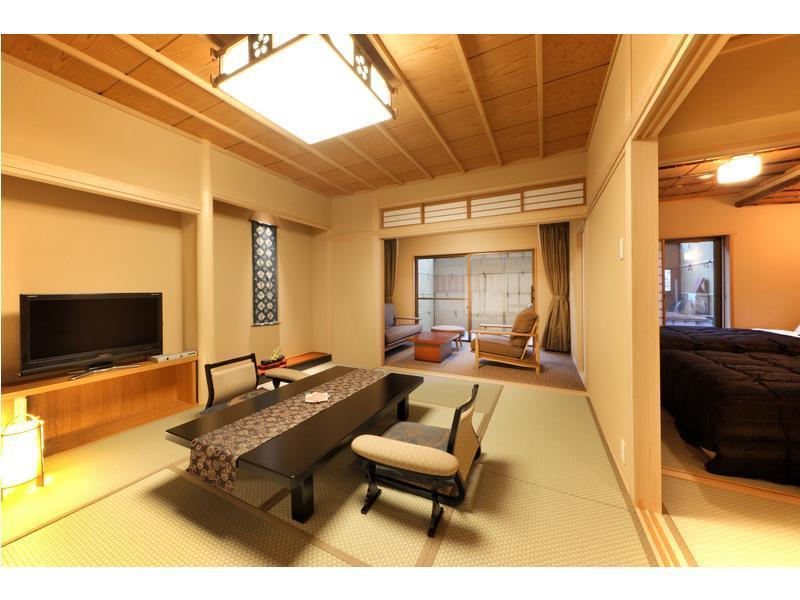 和室 (Japanese-style Room with Open-air Bath (2 Beds, Hachiban Wing))