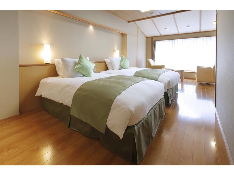 다다미 침대 객실 (Japanese/Western-style Room with Open-air Bath (2 Beds, New Building))
