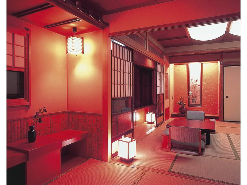 元禄 和室 桧風呂付き|12.5畳 (Japanese-style Room with Cypress Bath)