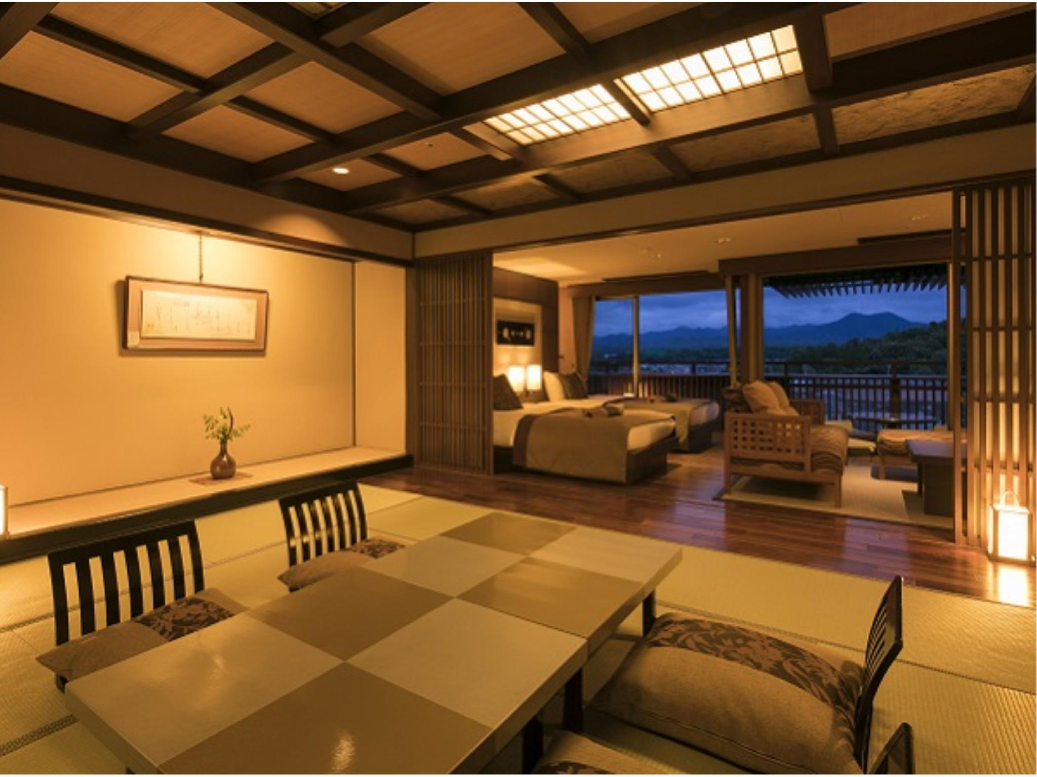 Japanese/Western-style Suite (2 Beds, Zen Type, Tensho-no-Yakata Wing)