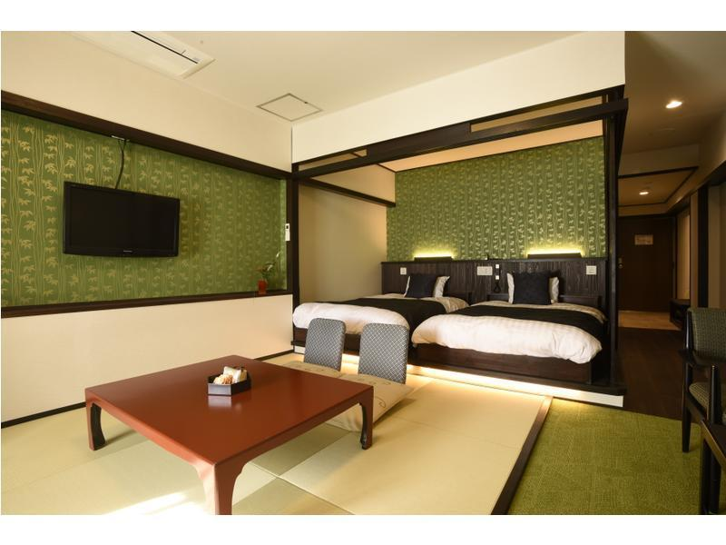 Japanese/Western-style Room (2 Beds) *Refurbished room