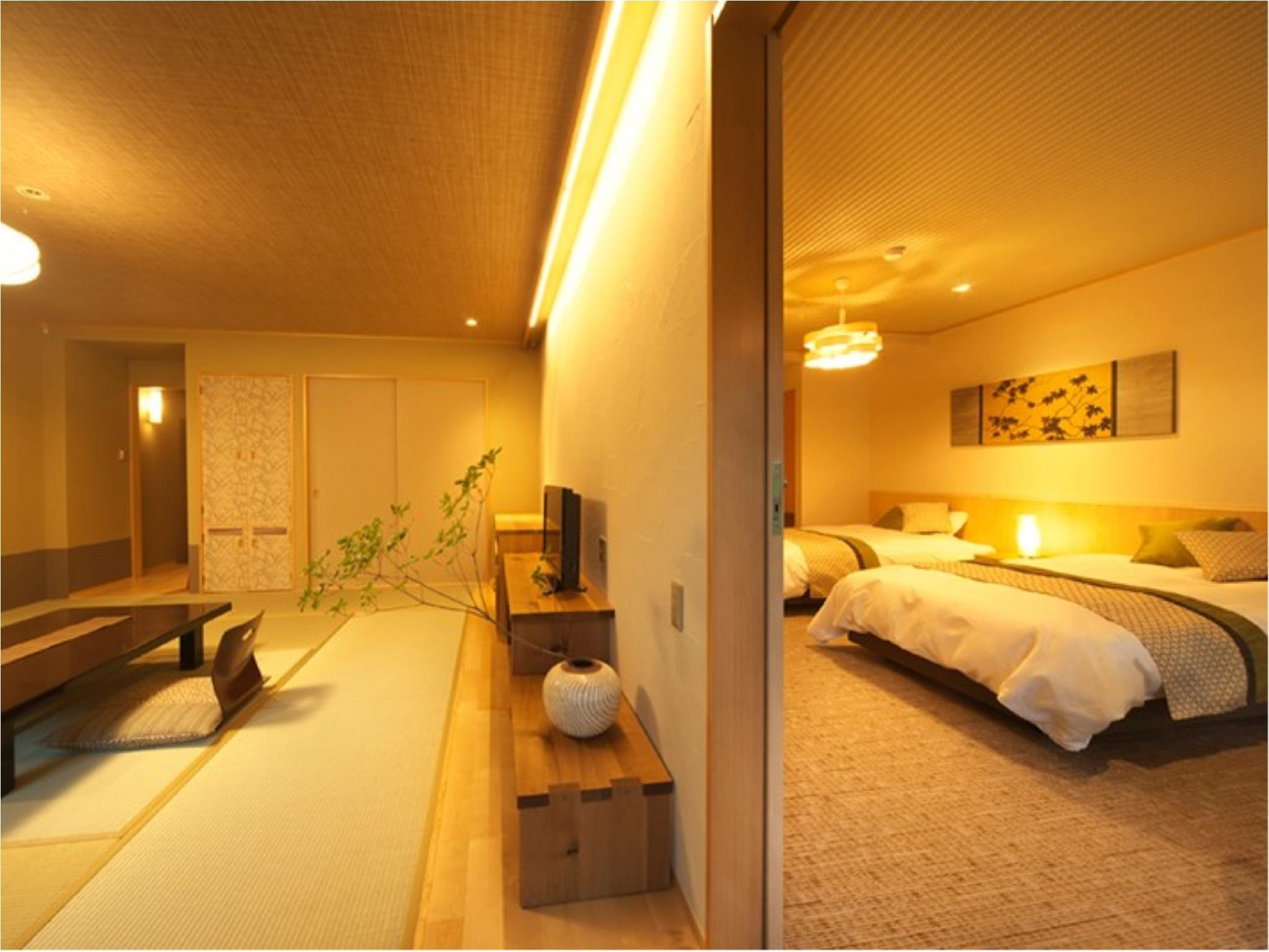 커넥팅룸(다다미 객실+침대 객실) (Connecting Room (Japanese-style Room + Western-style Room))