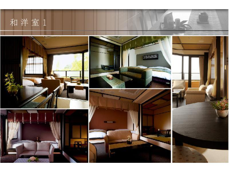 和洋式房 (Japanese/Western-style Room with Open-air Bath)