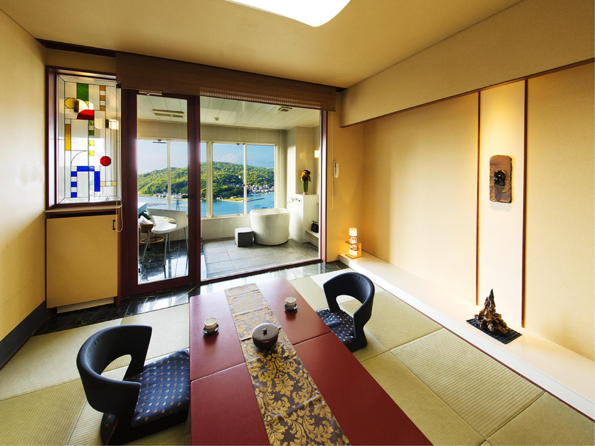 Japanese/Western-style Room with Scenic View Bath (Hanaikada Wing)