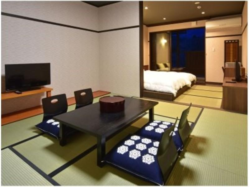 <1号館>和洋室【露天風呂付き】|50平米 (Japanese/Western-style Room with Open-air Bath (Building No. 1))