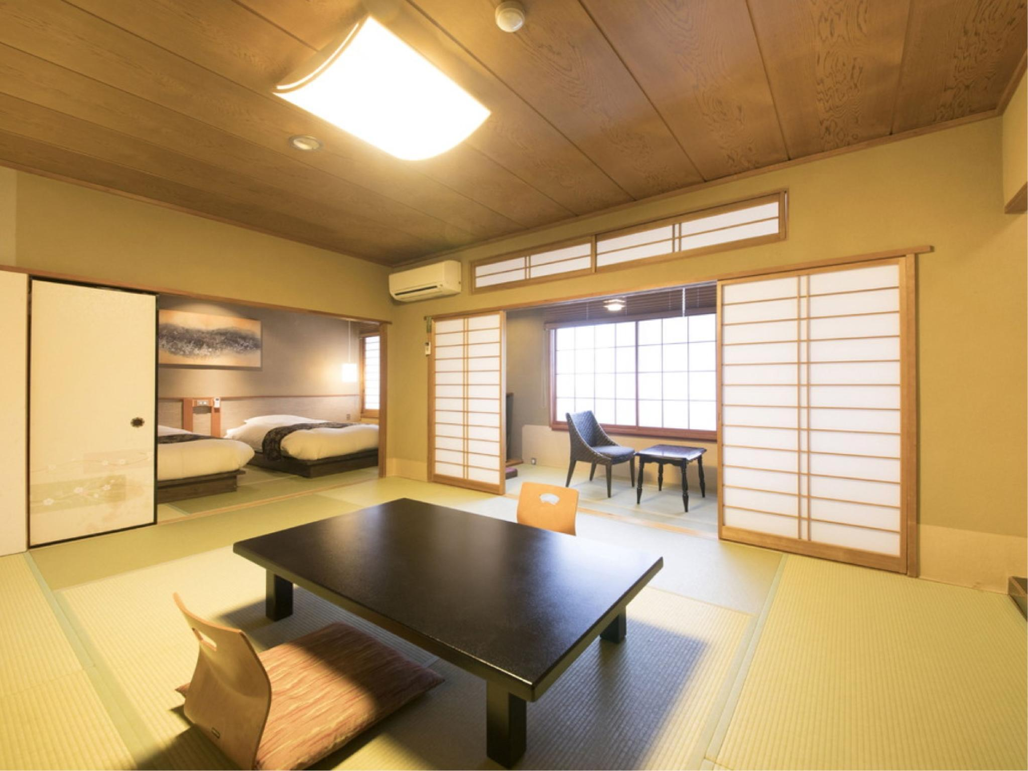 山櫻亭 日式摩登房+2張床 (Modern Japanese-style Room with 2 Beds (Yamazakura-tei Wing))