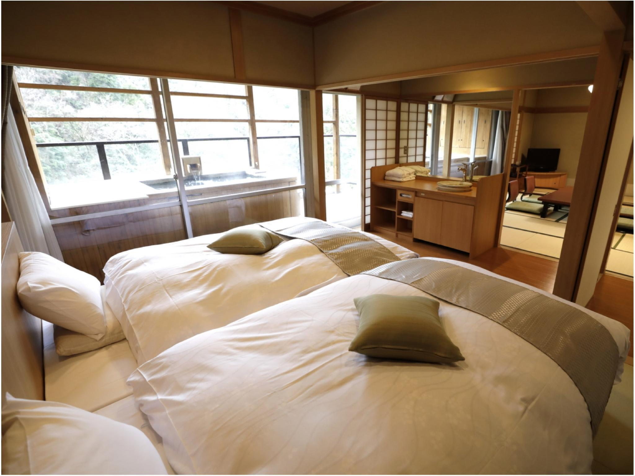 Japanese-style Room with Bed(s) and Open-air Bath (Jurakudai Wing)