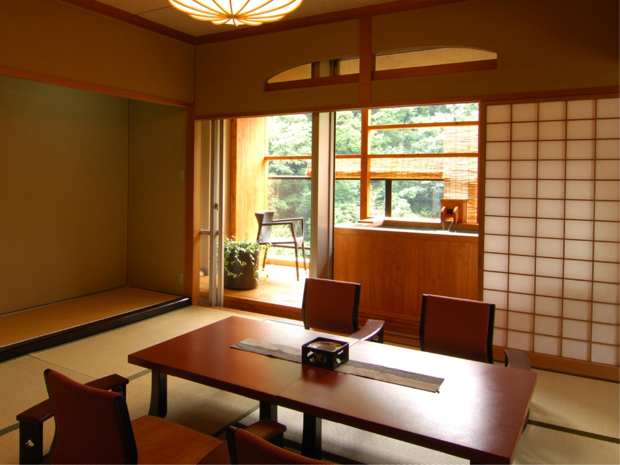 Standard Japanese-style Room with Open-air Bath (Jurakudai Wing)