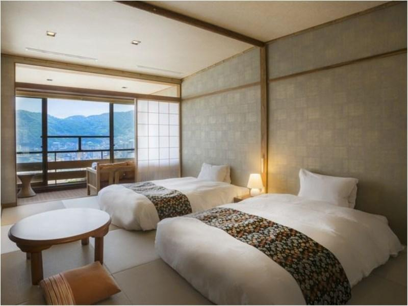 顶层 豪华和式双人双床房 (Deluxe Japanese-style Twin Room (Top Floor))