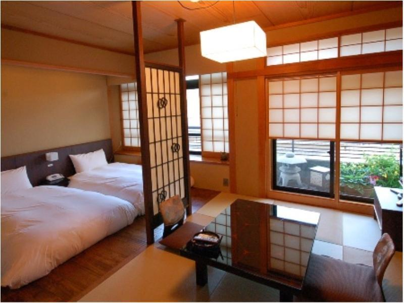 Japanese-style Room with Semi Open-air Bath (2 Beds, Main Building)