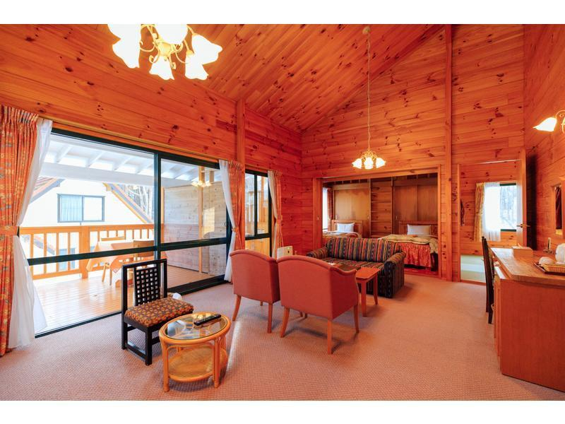 露天風呂付コテージ花ホテル 和洋室 2ベッド (Japanese/Western-style Cottage with Open-air Bath (2 Beds, Hana Hotel))
