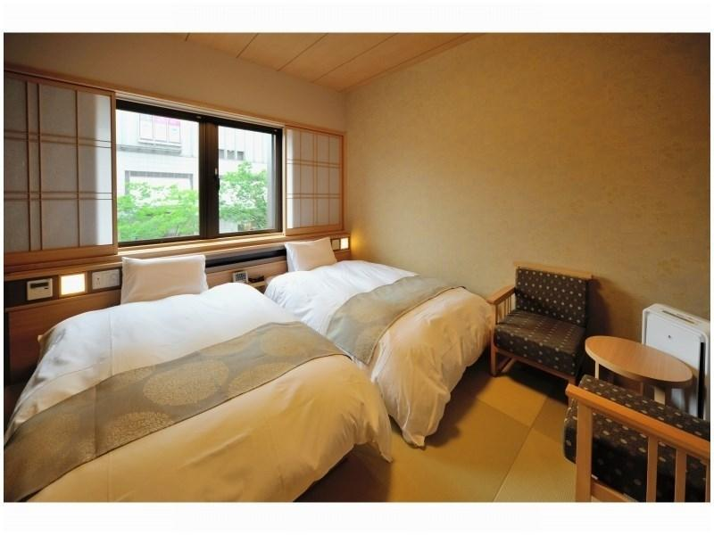 雙人雙床房※無浴缸、可淋浴 (Twin Room *Has shower, no bath in room)