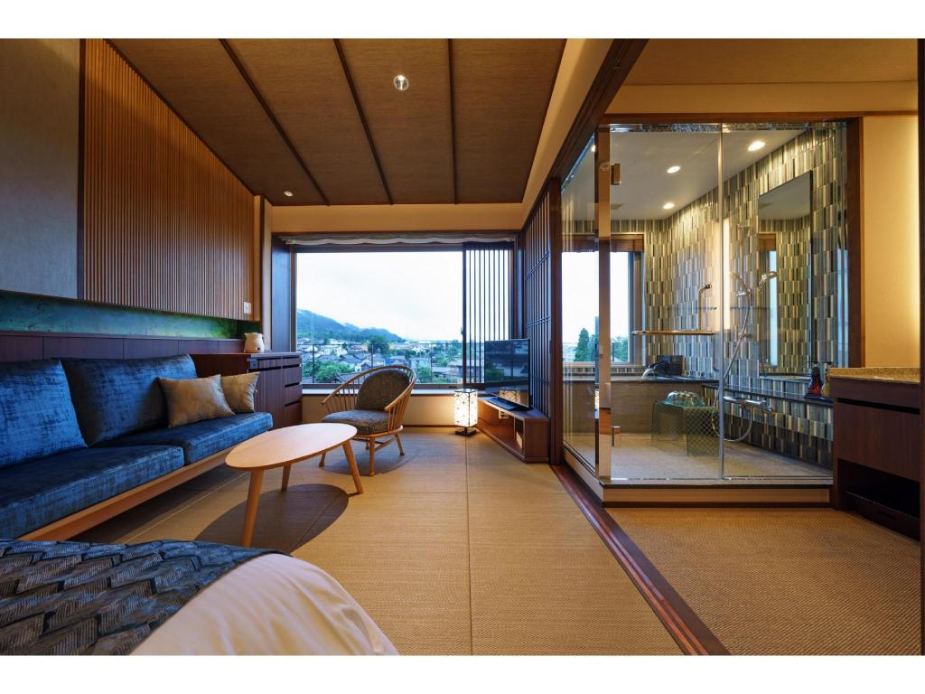 Japanese-style Room with Scenic View Bath (Kujaku Type) - 게스트 룸