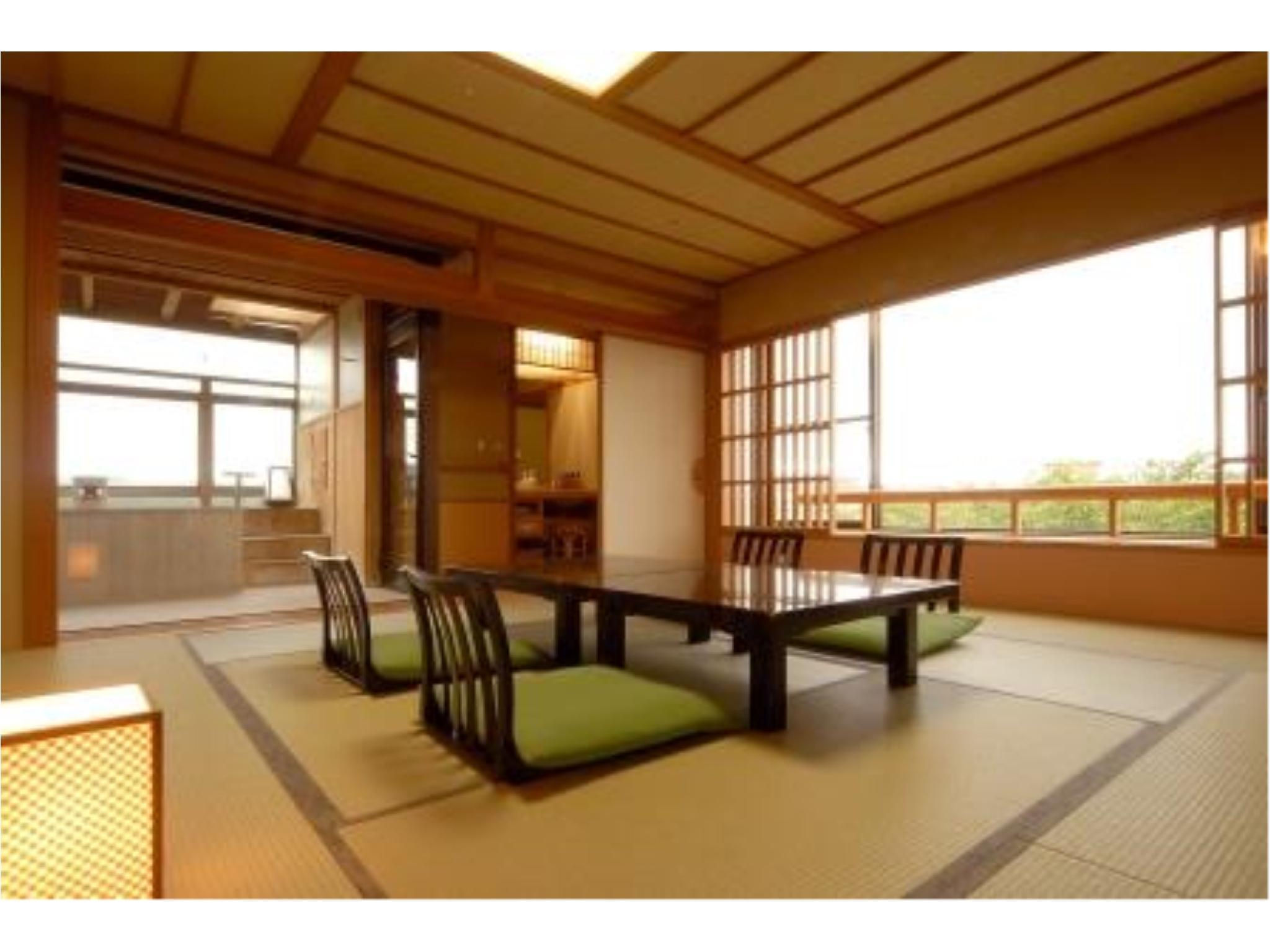 Japanese-style Room with Open-air Bath (Yuyu-no-Yakata Wing)