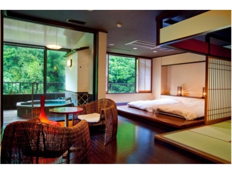 Wide Suite with Open-air Bath (Room 301, Rokushoan Type)