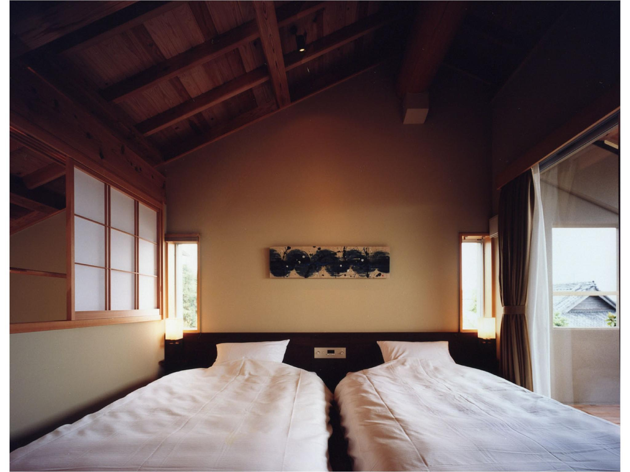 Japanese/Western-style Room with Open-air Bath (2 Beds)