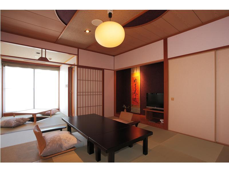和室・禁煙 (Japanese Style Room with Open-Air Bath)