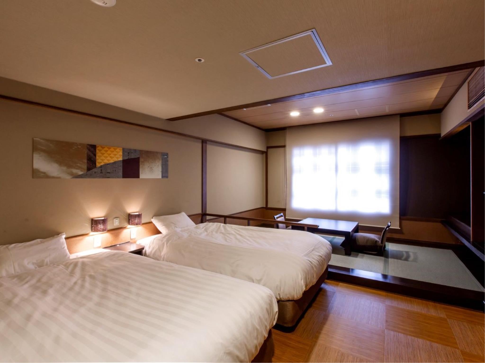 日式摩登和洋式房(2張床) (Modern Japanese/Western-style Room (Twin Beds))