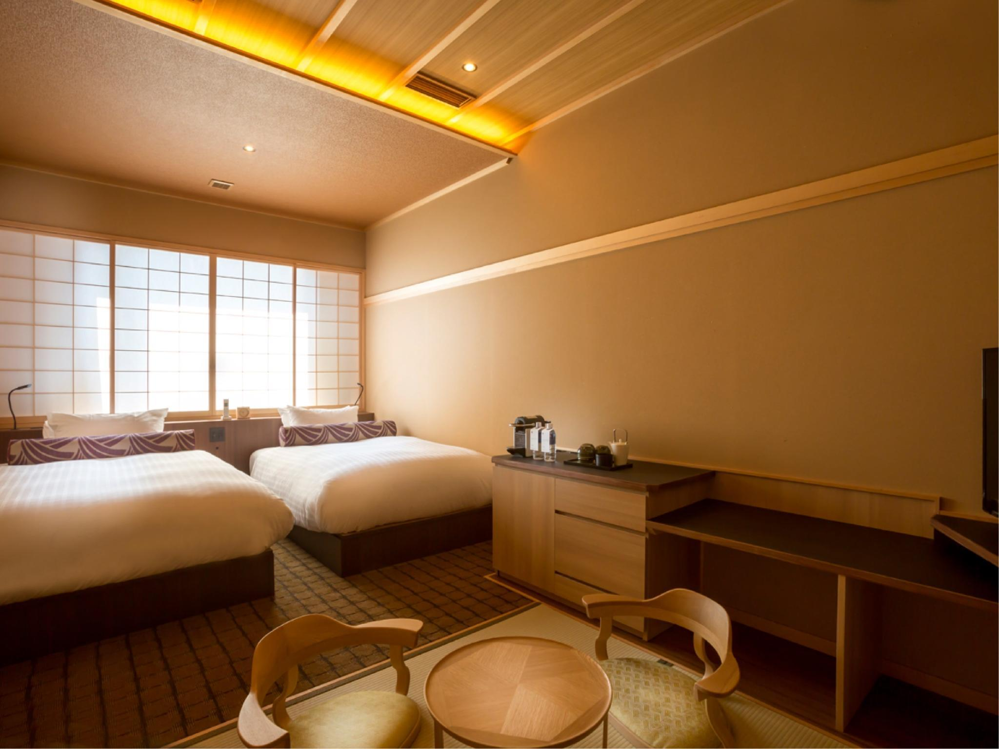 高级房(双床)-带榻榻米 (Superior Twin Room with Tatami Area)