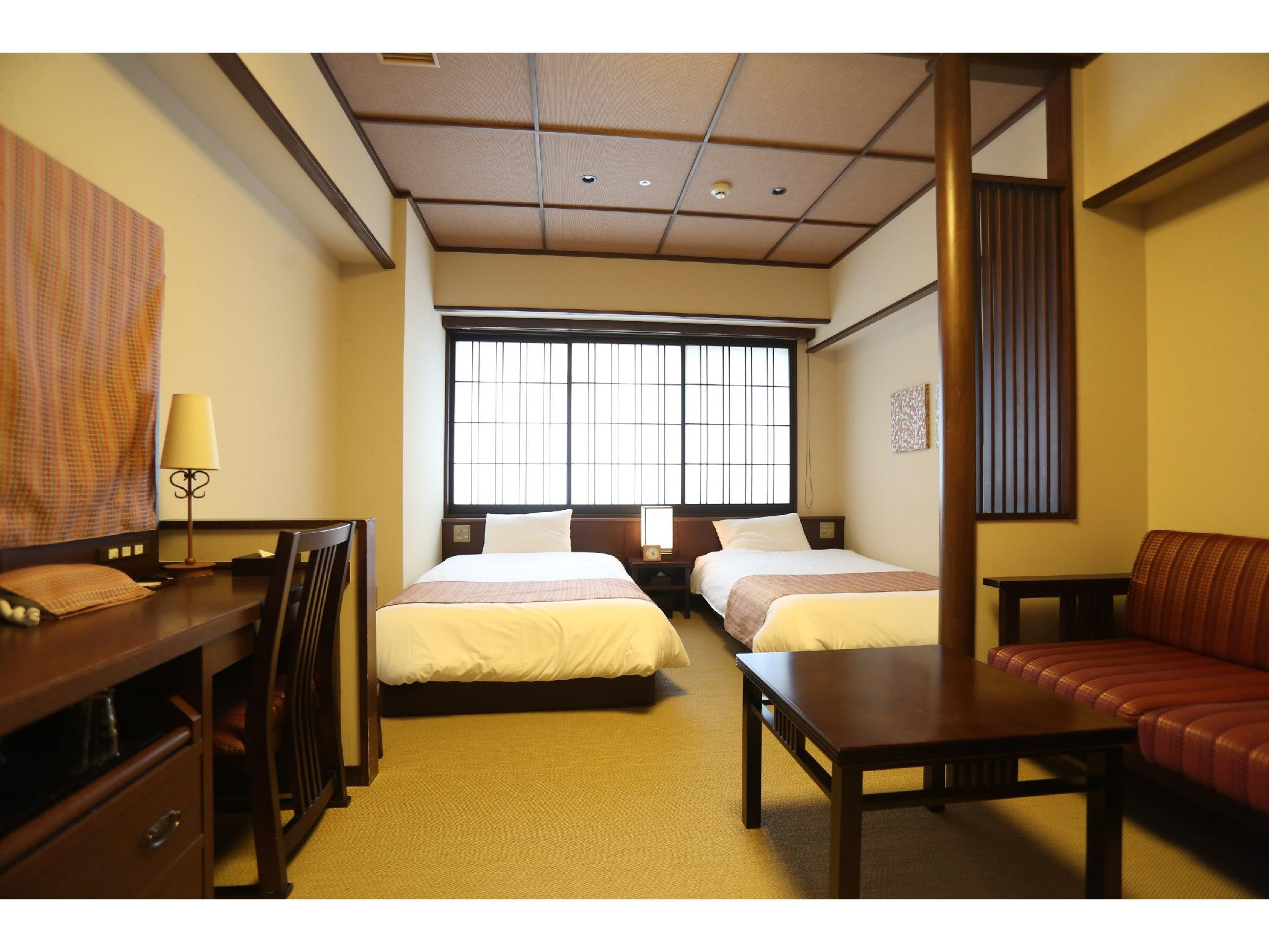 京町屋ツイン 禁煙 |23.1平米 (Twin Room (Bookings for children 6 years of age and above not requiring bedding  cannot be made for the Twin Room))