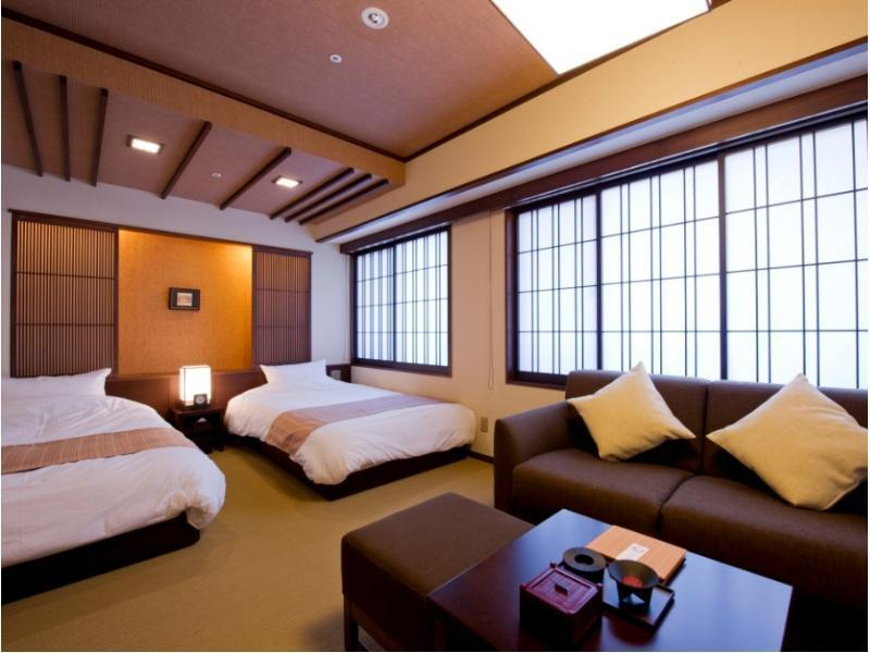 【京町屋】スーペリアツイン≪禁煙≫バス付 Japanican|29.42平米 (Superior Twin Room (Kyoto Machiya Type) *Has bath)