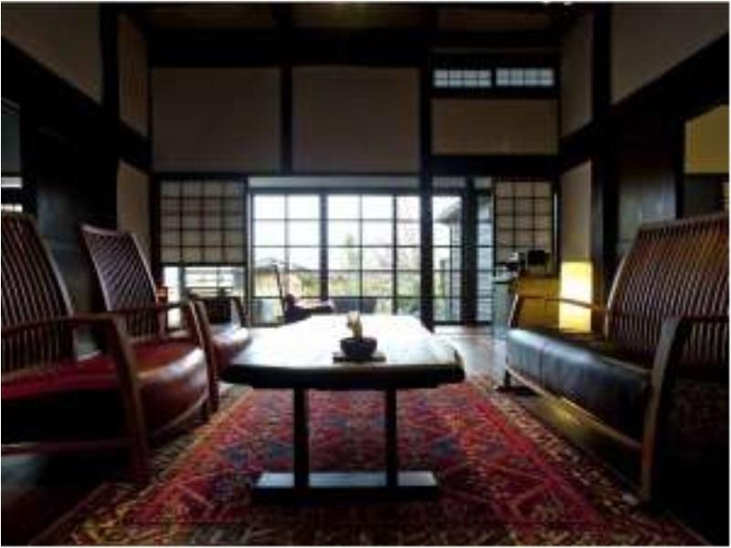 Japanese/Western-style Room with Open-air Hot Spring Bath & Irori Hearth (Souke Wing)