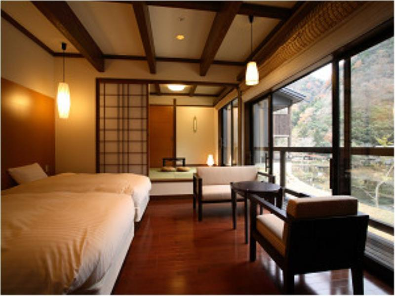 Japanese/Western-style Room with Private Hot Spring Bath + Sun Terrace