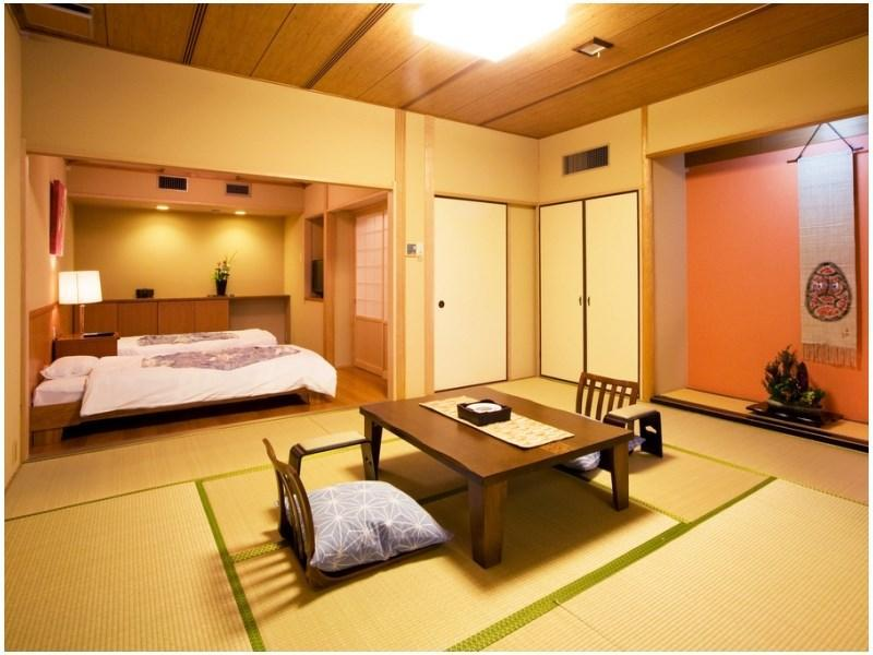 露天風呂付和洋室 (Japanese/Western-style Room with Open-air Bath (2 Beds, Shorokan Wing/Main Building))