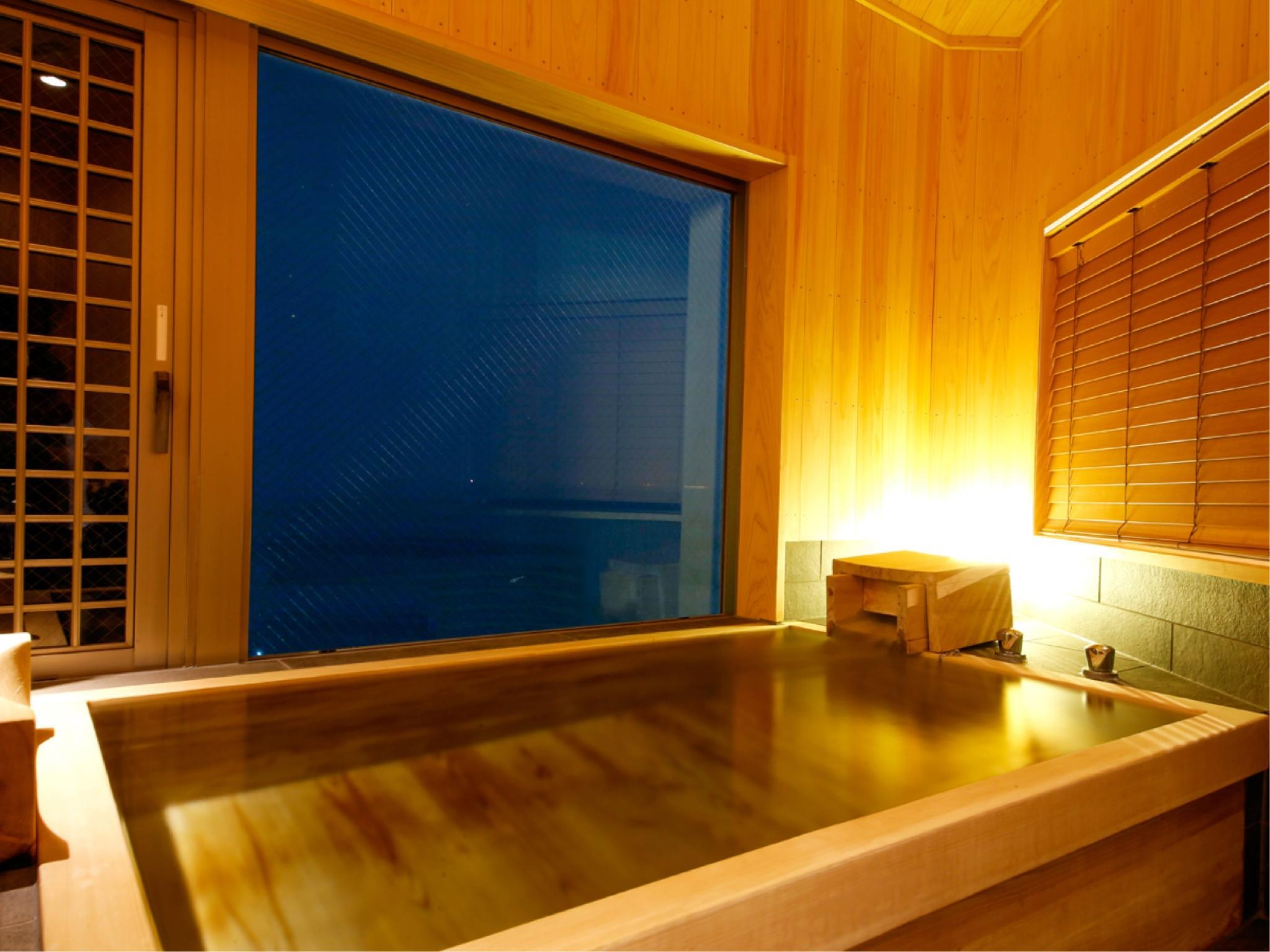 特別フロア【里楽】グランデルームA(展望檜風呂付) (Grande Room with Scenic View Cypress Bath (Type A, Special Floor Riraku))