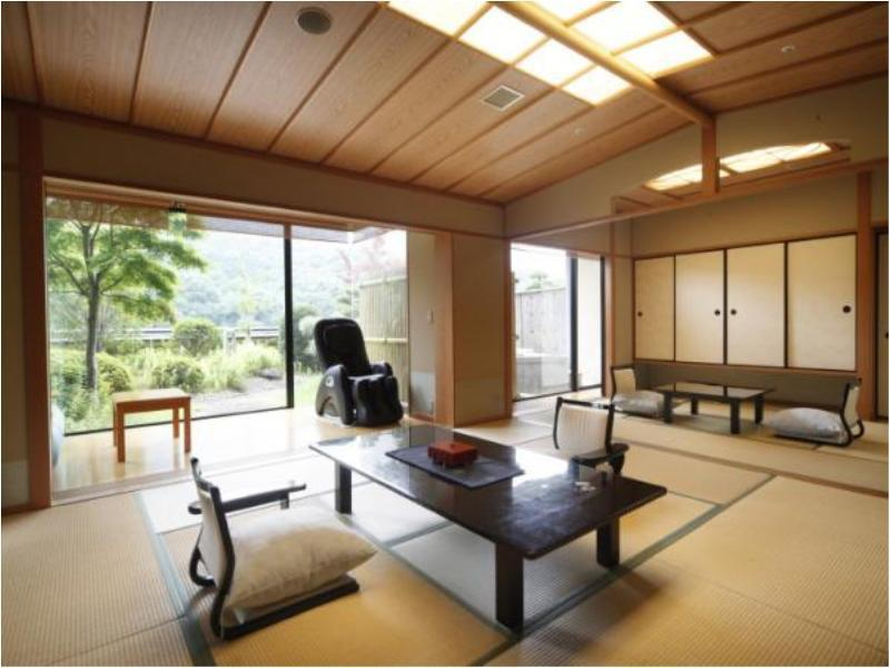 다다미 객실(HITEN-KAN/특별실/노천탕) (Special Japanese-style Room with Open-air Bath (Hiten Wing))