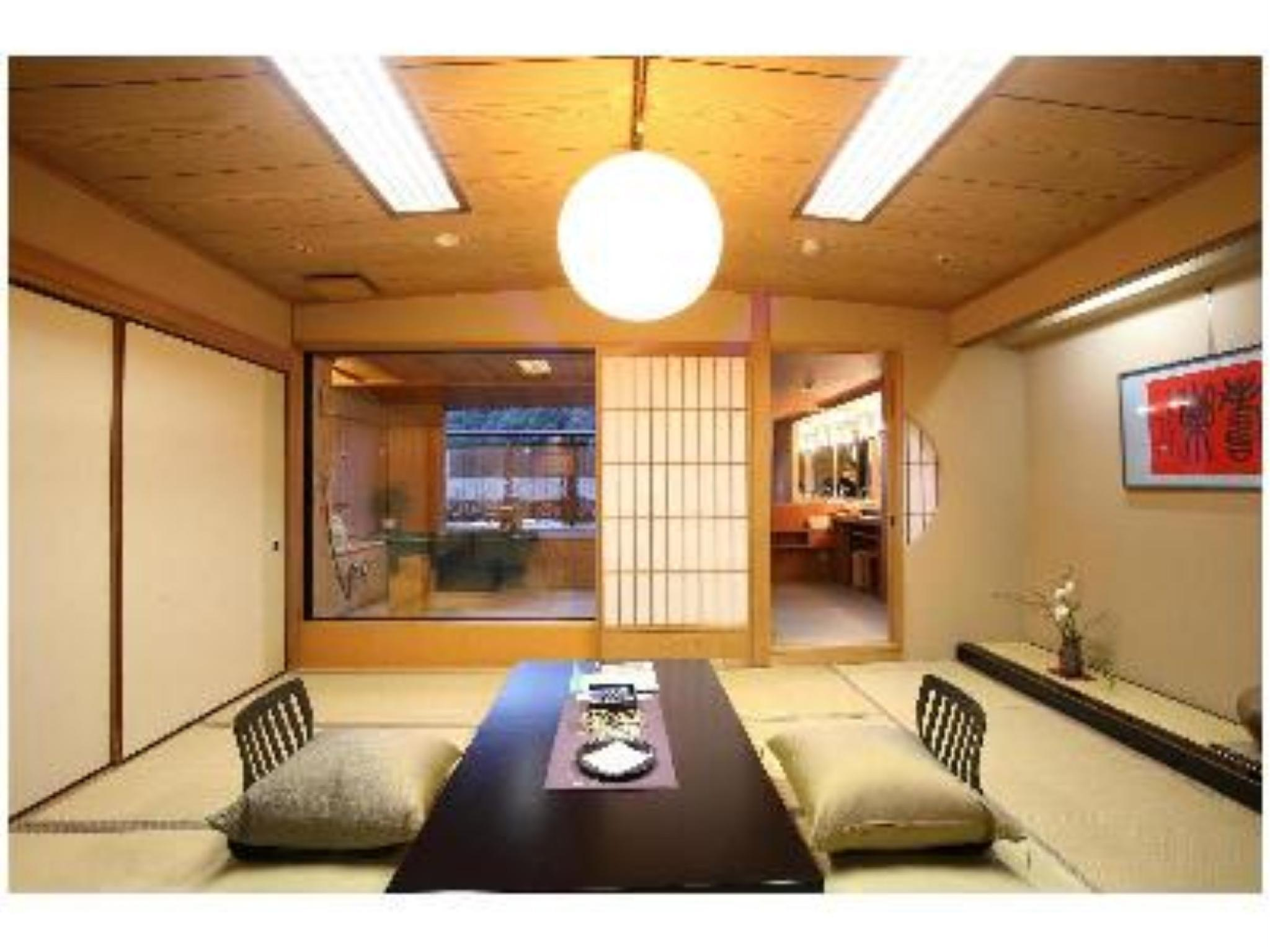 다다미 객실(산스이관/노천탕) (Japanese-style Room with Open-air Bath (Sansui Wing))