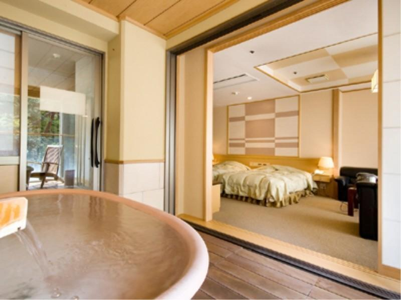 本館 ツイン 喫煙 展望露天風呂付|30平米 (Twin Room with Scenic View Open-air Bath (Main Building))