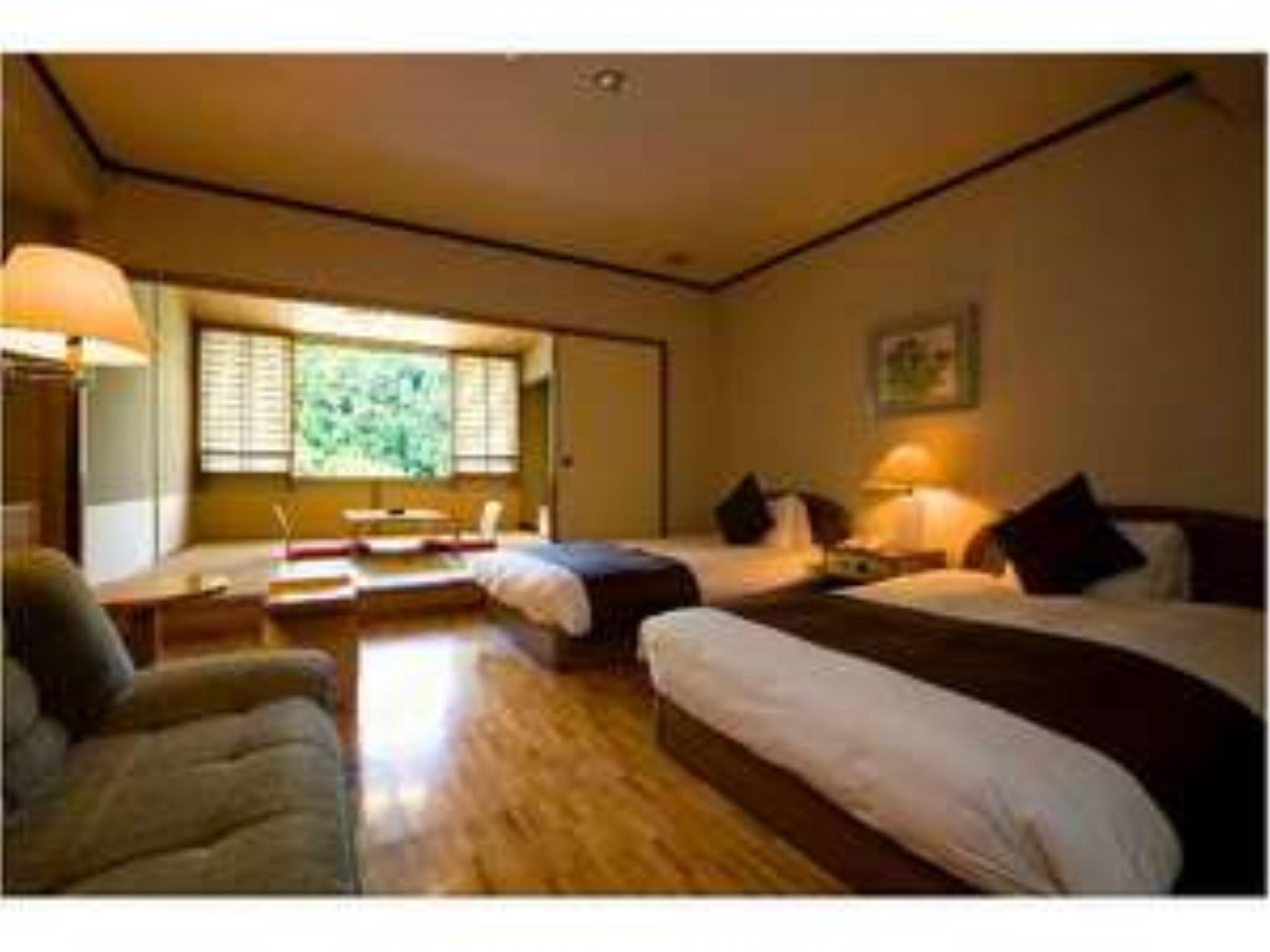 最頂樓 和洋式房(2張床) (Japanese/Western-style Room (2 Beds, Top Floor))