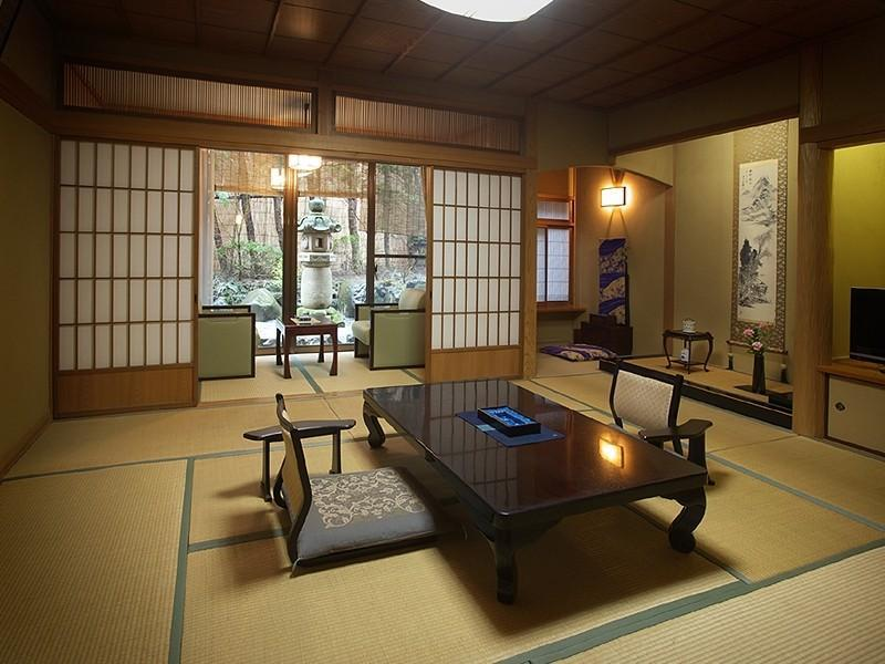 山茶亭 和室  禁煙 露天風呂付|10畳+踏込 (Japanese-style Room with Open-air Bath (Sazantei Wing))