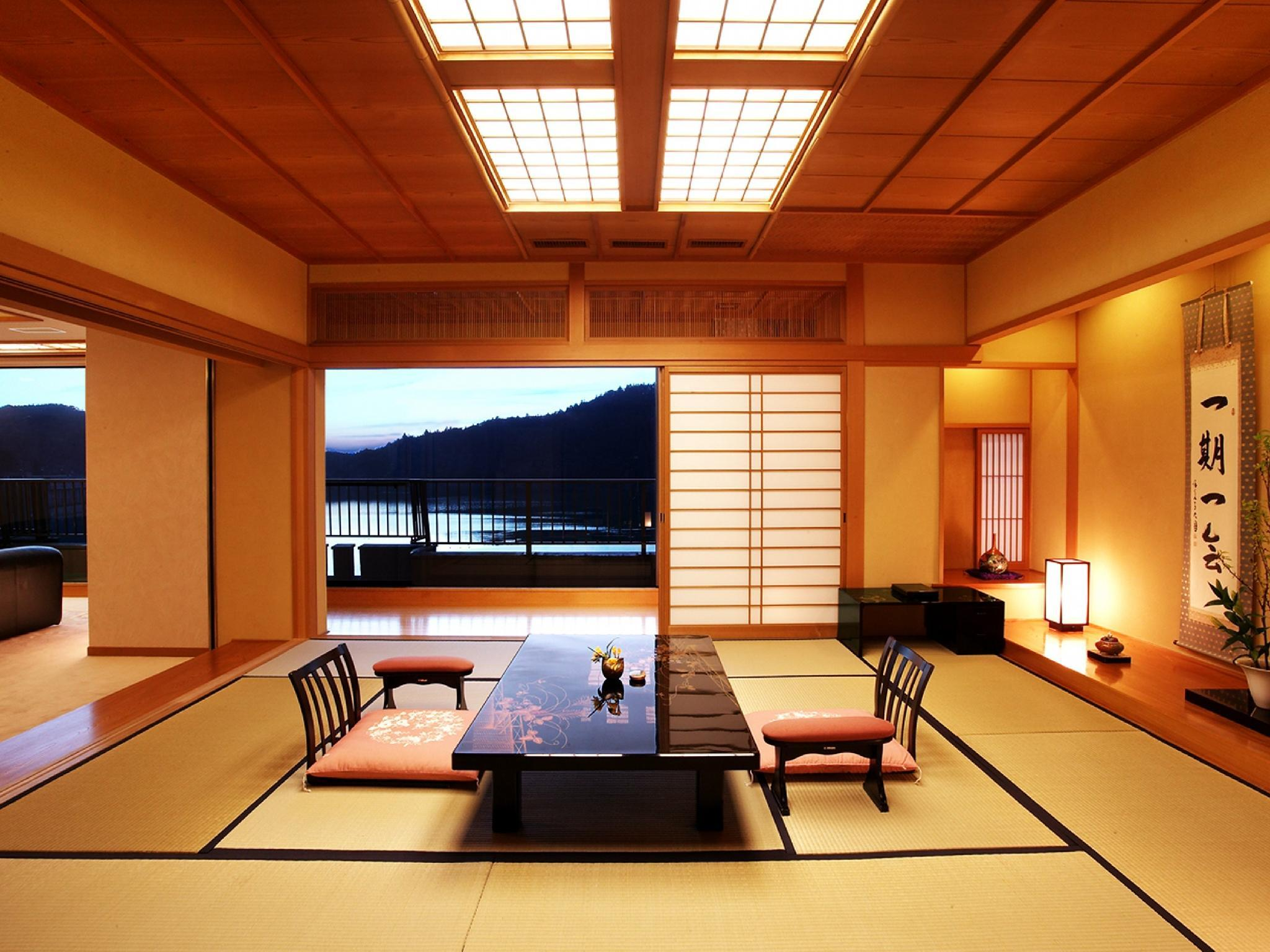 Suite with Semi Open-air Cypress Bath (Japanese-style Room + Reception Room + Bedroom, Subarunoma Type)