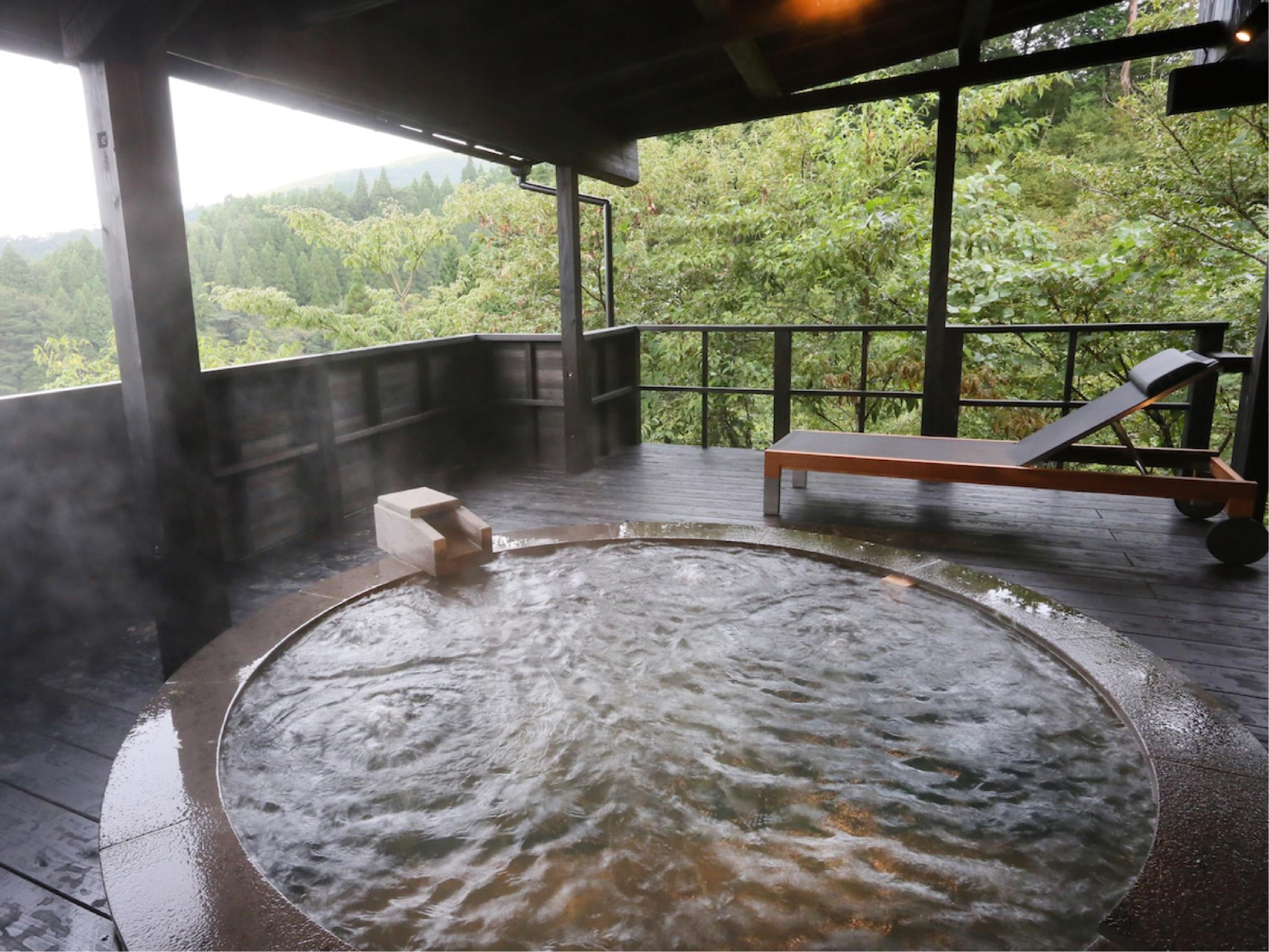 有明 独立房(和洋式房+露天风吕+围炉裏) (Detached Japanese/Western-style Room with Open-air Bath & Irori Hearth (Ariake Type))